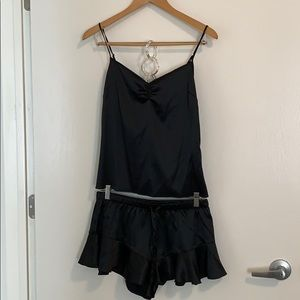 NWT! Victoria Secret black cami and short set